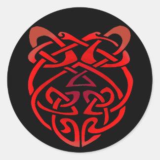 Celtic Heart Round Sticker