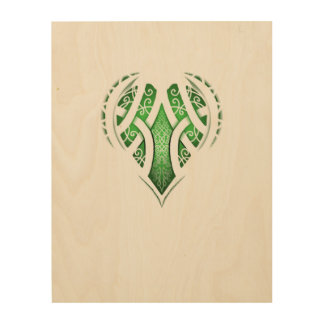 Celtic Heart Tattoo Design Wood Canvas