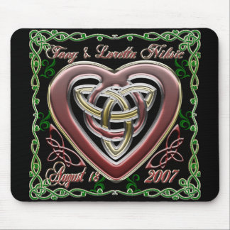 Celtic Heart Wedding/Anniversary Design Mousepad