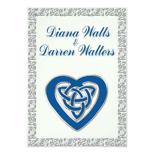 Celtic Heart Wedding Invitation 2