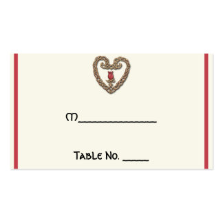 Celtic Heart with Red Rose Wedding Place Cards Business Cards