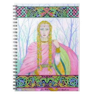 """Celtic Heroine """"Deirdre""""  Spiral Notebook"""
