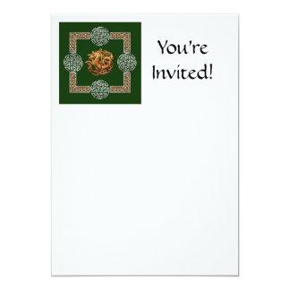 Celtic Horse Design 13 Cm X 18 Cm Invitation Card