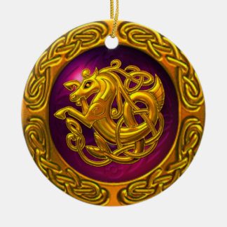 Celtic Horse Design Christmas Ornament