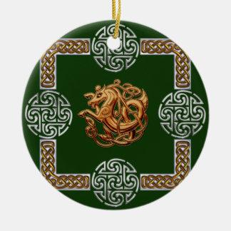 Celtic Horse Design Christmas Ornament