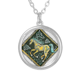 Celtic Horse Silver Plated Necklace