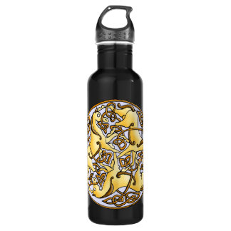 Celtic horses and knots in circle 710 ml water bottle