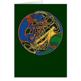 Celtic Hound & Bird Card