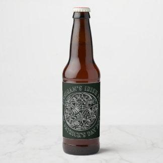 Celtic image Irish Pub St. Patrick's Day Beer Bottle Label