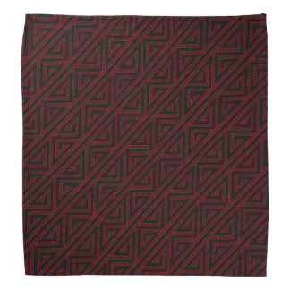 Celtic Inspired Black Tribal Zig Zag Weave Pattern Bandana