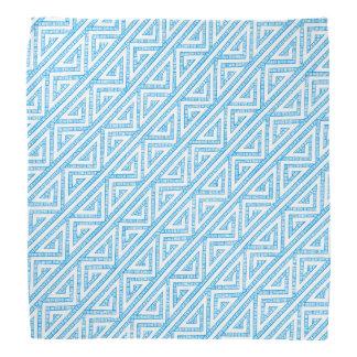 Celtic Inspired White Tribal Zig Zag Weave Pattern Bandana