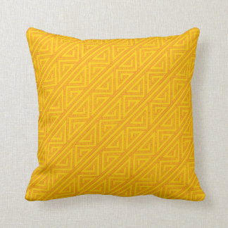 Celtic Inspired Yellow Tribal Weave Pattern Throw Pillow