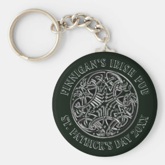 Celtic Interlaced Design St. Patrick's Day Key Ring