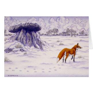 Celtic Irish Christmas Card Haroldstown Dolmen