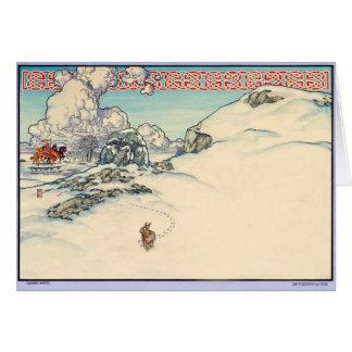 Celtic Irish Christmas Card Winter Rabbit