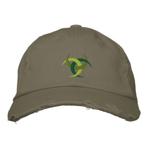 Celtic Irish culture Design on Embroidered cap Embroidered Hats