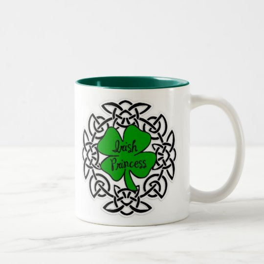 Celtic Irish Princess Two-Tone Coffee Mug