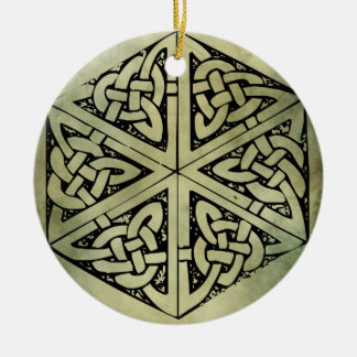 celtic irish sacred symbols christmas ornament