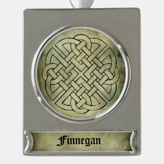 celtic irish sacred symbols silver plated banner ornament