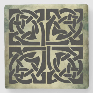 celtic irish sacred symbols stone beverage coaster