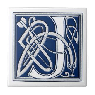 Celtic J Monogram Tile