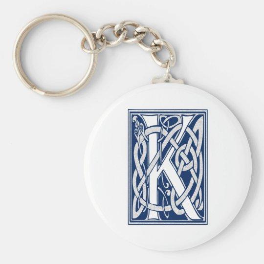 Celtic K Monogram Key Ring