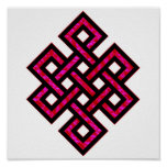Celtic Knot 10 Red Posters