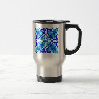 Celtic Knot 3 Blue Travel Mug