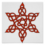 Celtic Knot 9 Red Print