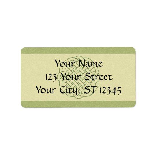 Celtic Knot Address Label