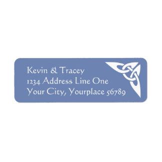 Celtic Knot Address Label - Cornflower