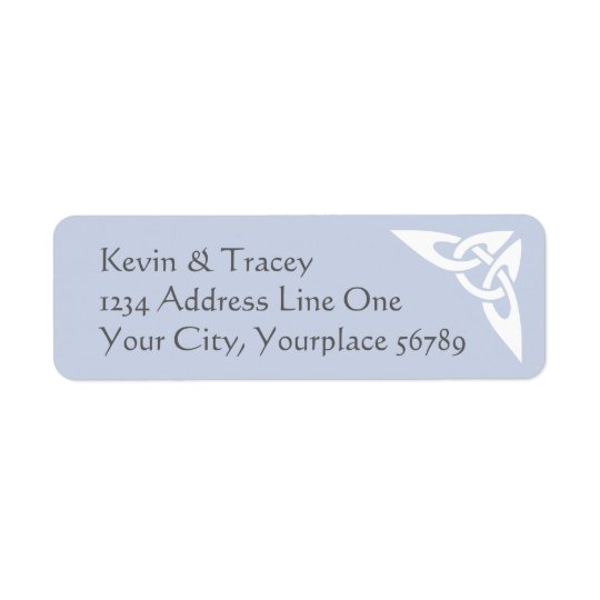 Celtic Knot Address Label - light blue