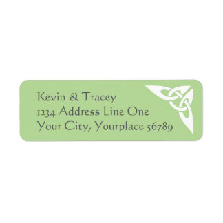 Celtic Knot Address Label - light green