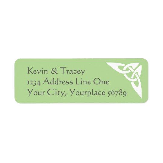 Celtic Knot Address Label - light green