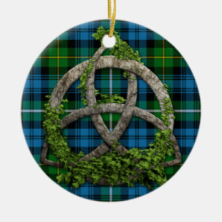 Celtic Knot And Clan Campbell of Argyll Tartan Christmas Ornament