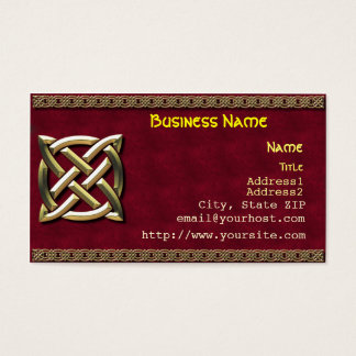 Celtic Knot Business Card