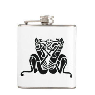 Celtic Knot Cats Hip Flask
