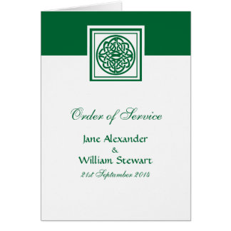 Celtic Knot Color Select Irish Order of Service Greeting Card