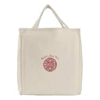 Celtic Knot - Coral - World's Best Mom Canvas Bag