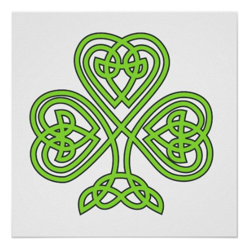 Celtic Knot Cross Tree Poster