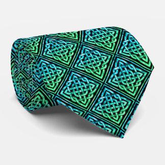 Celtic Knot - Diamond Blue Green Tie