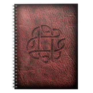 Celtic knot embossed leather notebook