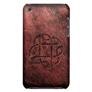 Celtic knot embossed on leather barely there iPod case