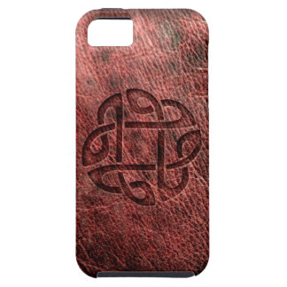 Celtic knot embossed on leather case for the iPhone 5
