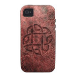 Celtic knot embossed on leather Case-Mate iPhone 4 cases