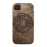 Celtic knot embossed on leather iPhone 4 cases