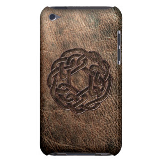 Celtic knot embossed on leather iPod touch covers