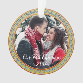 "Celtic Knot Frame & ""Our First Christmas"" Ornament"