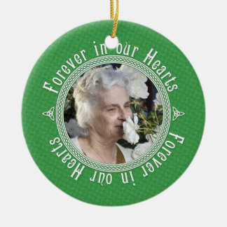 Celtic Knot Green Irish Memorial Photo Christmas Christmas Ornament