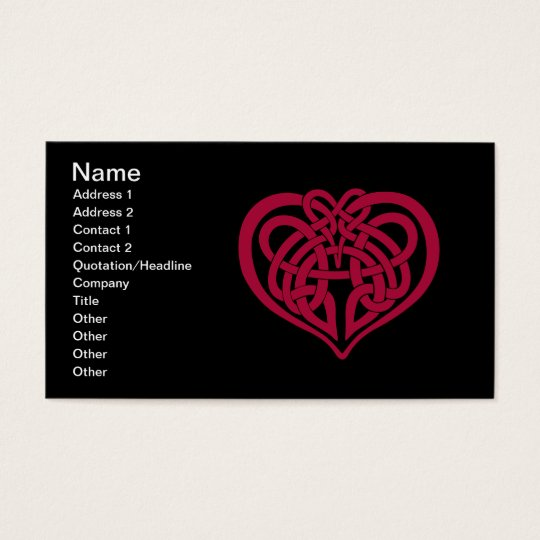 Celtic Knot heart Business Card